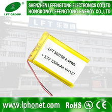 553759 1200mah 3.7v lithium li-ion batteries 3.7v 4.2v
