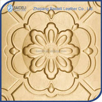 customized novel design pvc vinyl fabric leather panel for interior decoration