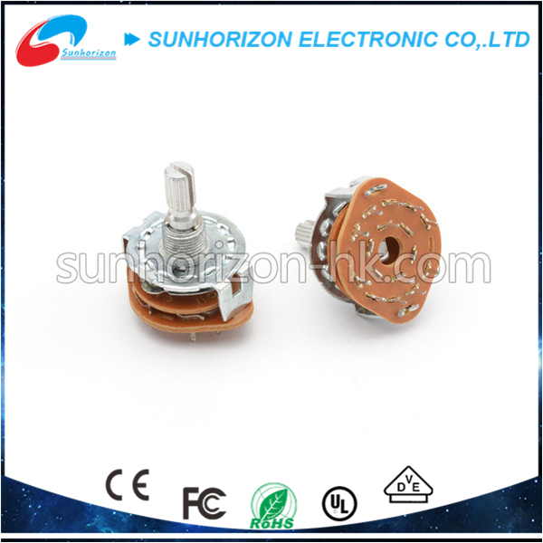 1 Pole 4 Position 6mm Shaft Dia Band Selector Rotary Switch