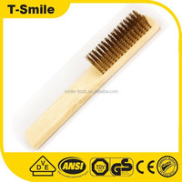 Manufacturer Supply Hand High Carbon Steel Wire Block Brush 6*19 Rows Plastic Handle Wire Scratch Brush