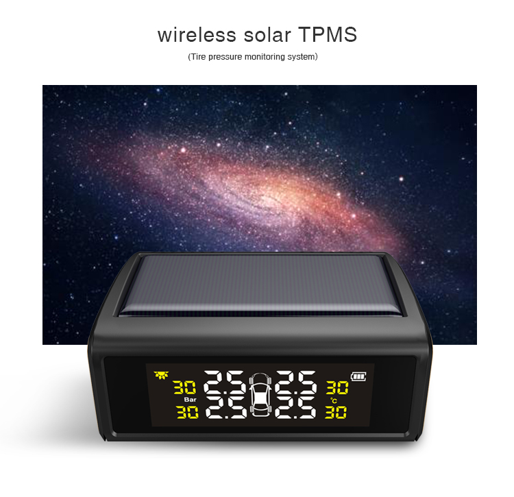 New product 2018 Solar Energy TPMS with 4 external sensors