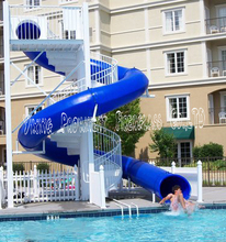 Closed used fiberglass water slide for sale
