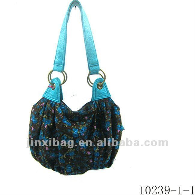 2012 latest design floral print women handbag factory