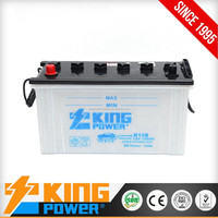 Hot Selling 12V100AH dry charge car battery with low price N100