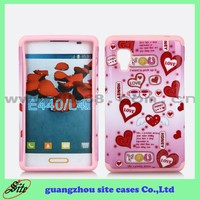 2015 factory price western cell phone case for LG L42, water print combo phone case for LG