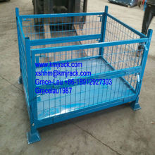Storage Metal Wire Mesh Box/Container/Warehouse Stackable Mesh Box with Flexible Door Attached