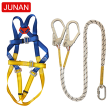 China factory outlet polyester fall protection <strong>safety</strong> belt fall arrest with lanyards and hooks