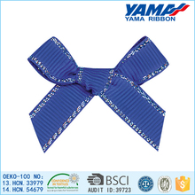 Hot sale widely used superior quality beautiful blue decorative polyester christmas bow