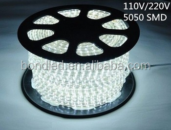 5 years warranty High voltage 5050SMD 220V 110V flexible led light strip for coral reef