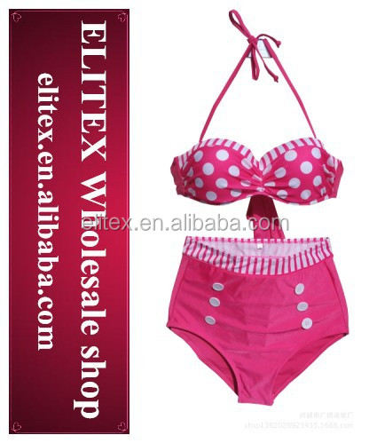 Low price good quality high waisted <strong>sexi</strong> ladies mature bikini swimsuits