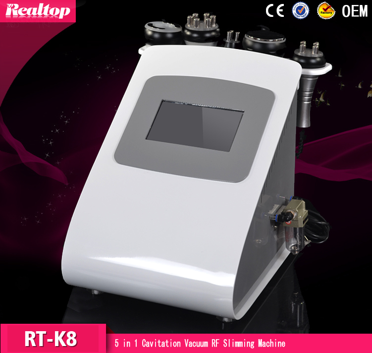 40K Cavitation Ultrasonic Bipolar RF Radio Frequency Multipolar Vacuum Body Slimming Fitness Fat Burning Beauty Machine