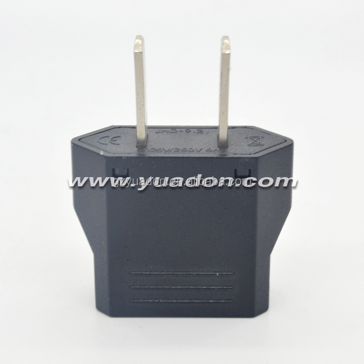 Great quality 2 flat pin World to USA travel power adapter converter plug