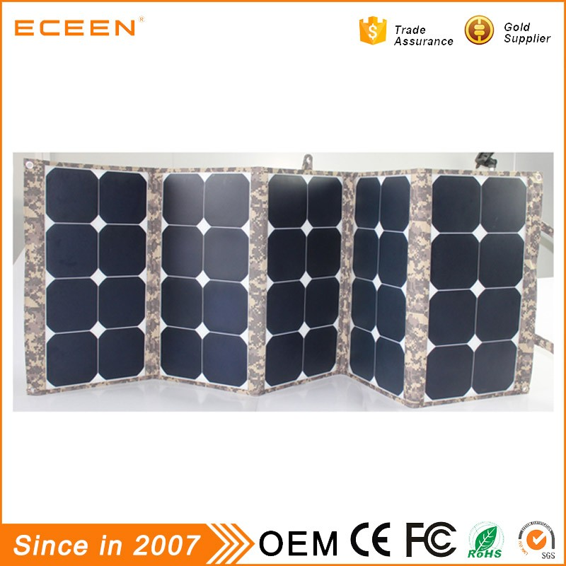 2017 Best quality 130W sunpower folding low price mini the solar panel