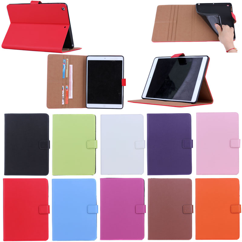 Korea Style Flip PU Leather Case for iPad Air,New Arrival Case for iPad 5