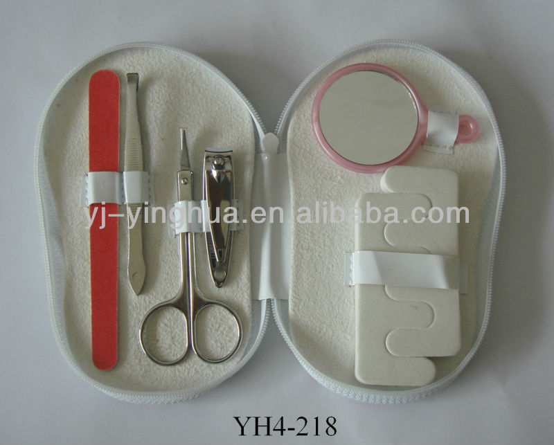 manicure and pedicure set in slipper pouch