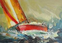 Small Boat Painting on Canvas for Wholesale