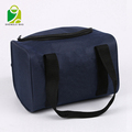 China supplier dual compartment insulated lunch bag shoulder tote waterproof cooler picnic bag with zip closure