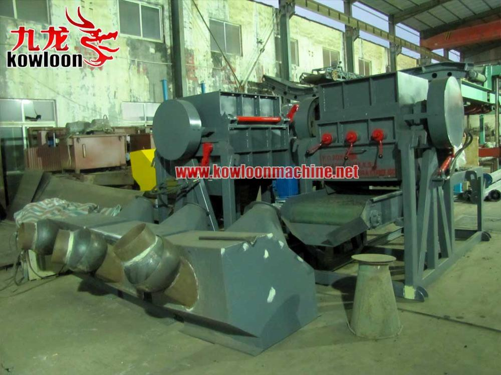 1ton per hour output automatic tyre crusher machine