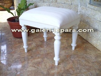 Wooden Stool Bedroom - Dresser Mirror Furniture - Furniture Jepara Furniture
