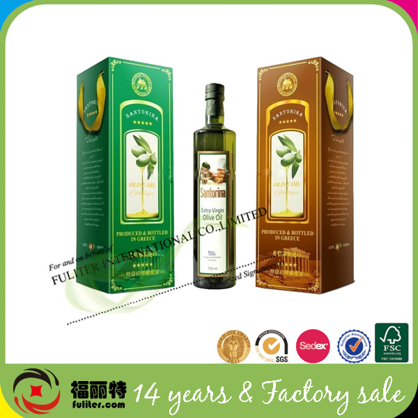 Single bottle essential packing olive oil boxes