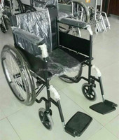 removable folding footboard folding steel-pipe frame wheel chair
