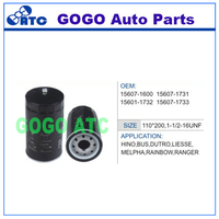 Oil Filter for Hino Bus Dutro Liesse Melpha Rainbow Ranger OEM 15607-1600 15607-1731 15607-1732 15607-1733