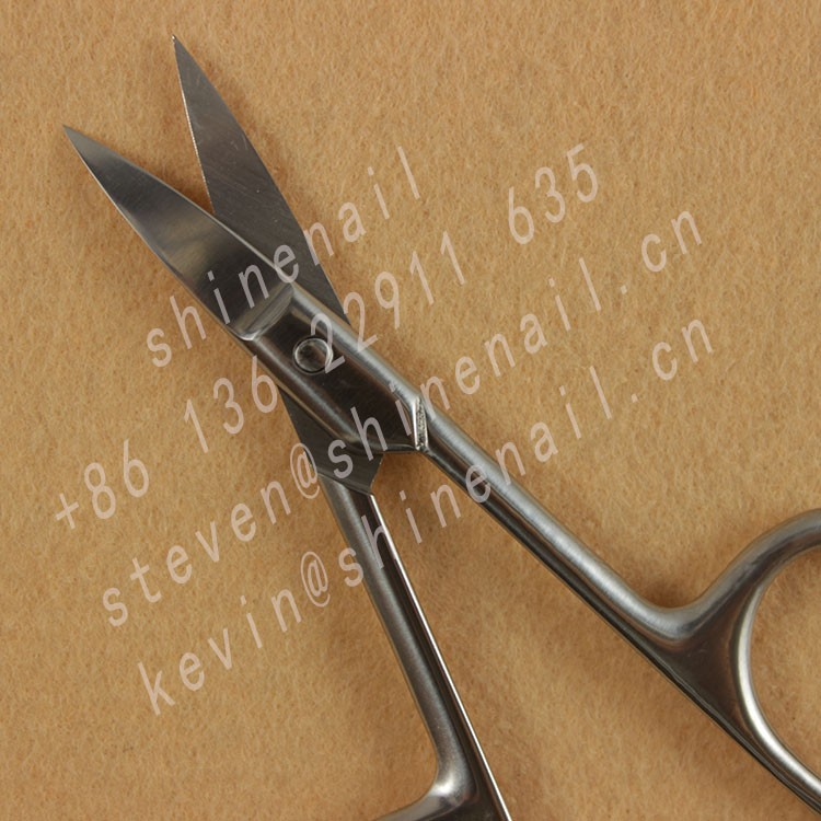 manufacturer supply high quality stainless steel manicure scissor for nail salon