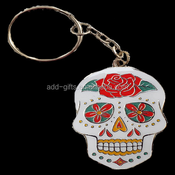 Sugar Skull Keychain, Key Chain, Day of The Dead, Art, Artist, Gift