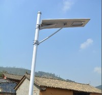 Factory price all in one led street light with solar panel 20w