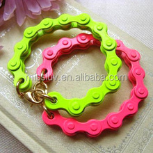 2014 new design bicycle chain bracelet candy color bracelet for kid