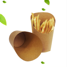 Customized french fries paper cone, paper cones for french fries, french fries paper cup