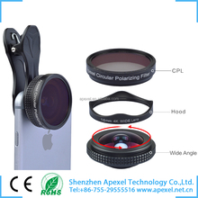 2016 gadgets camera accessories for mobile cell phone 4K wide angle camera lens attachment