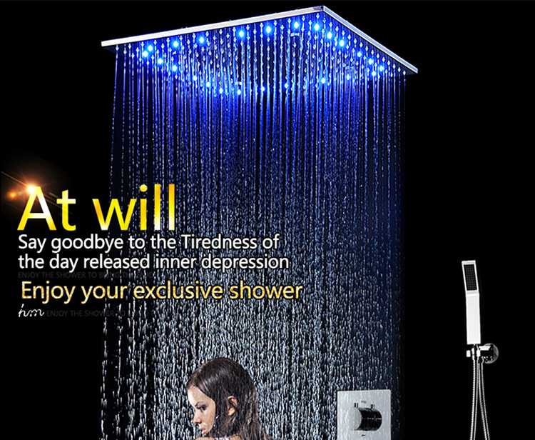 Luxury LED Hydro Power Multi Function Shower Head Set In Construction & Real Estate