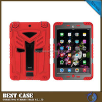 Kickstand kids proof pc+TPU combo mobile case for ipad mini 4