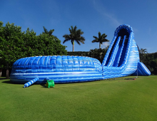 inflatable giant blue hurricane water slide for sale