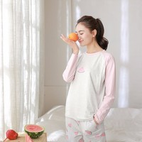 Wholesale itonia TJ105 pregnancy pajamas thin soft cute pattern maternity home wear suit