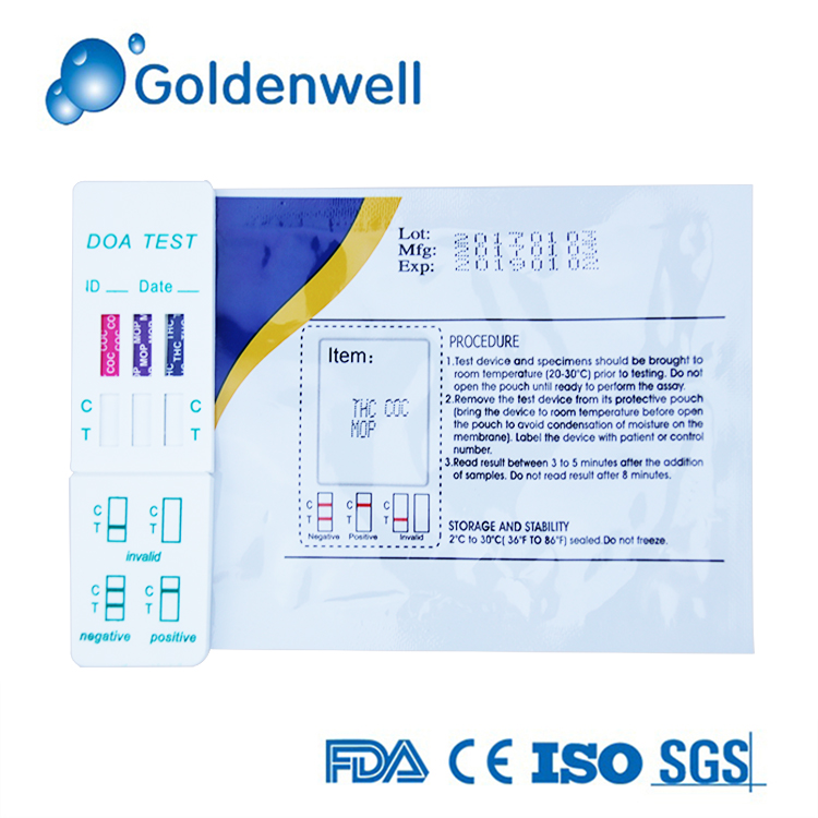 Home Use Multi Urine Drug Of Abuse Test Cassette
