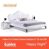 Foshan Princess style king bed furniture G1067