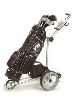 X remote golf trolley lithium battery tubular motors with golf caddy wheels