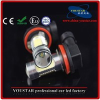 11w white color 12v 24v H1/ H3/ H4/ H7/ H8/ H9/ H10/ H11/ 9005/ 9006 12v led car lamp