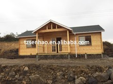 Senhao prefab wooden house/Log Cabin/Container House Design manufacture