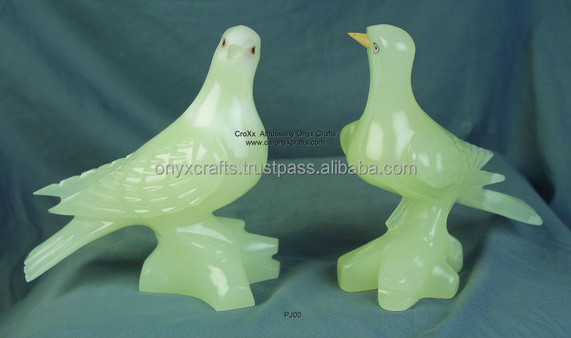 Green Onyx Pigieon figurines i ncheap price