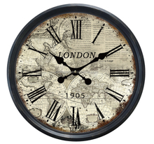 20'' Antique home decor plastic decorate wall clock