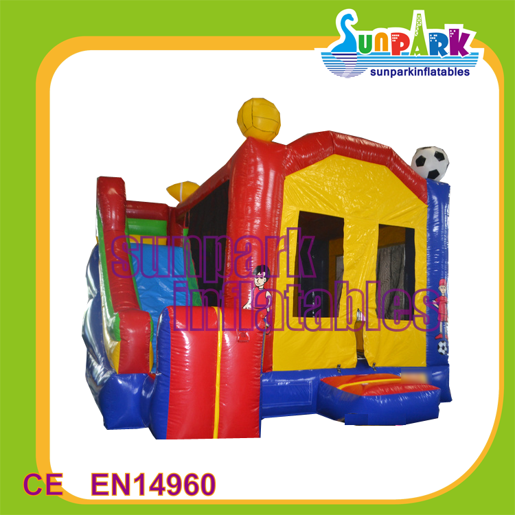 juegos inflables castillo Colorful inflatable sports bouncer combo