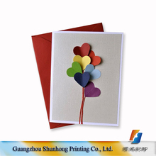 Cute wholesale custom thick new year greeting card invitation letter printing service