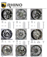car 4x4 alloy wheels rims RHINO car alloy wheel