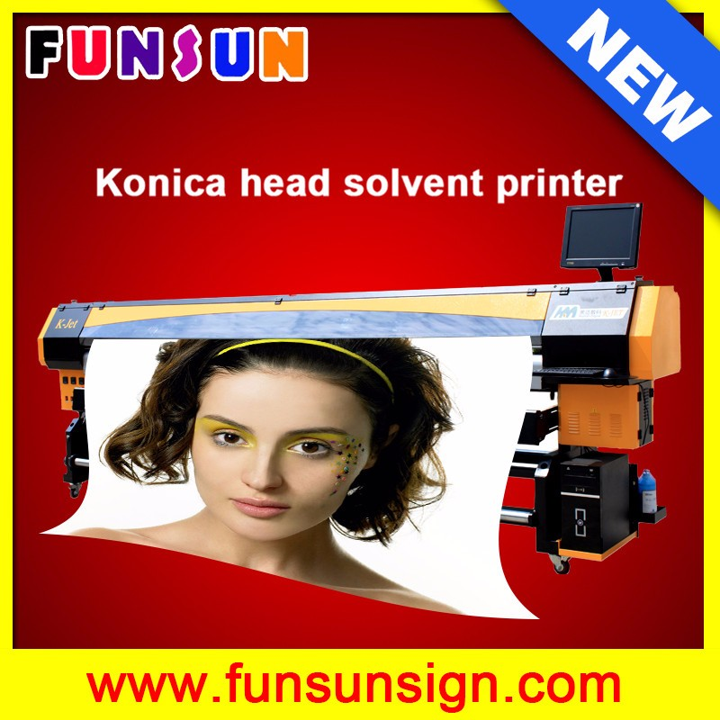 K Jet 3.2m wide PVC solvent plotter with 4 or 8 Konica 512 14pl head