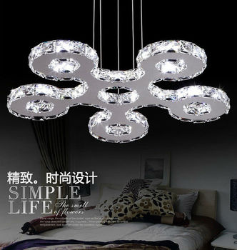 modern elegant crystal led pendant light