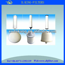 carbon or ceramic material used in amway water filter