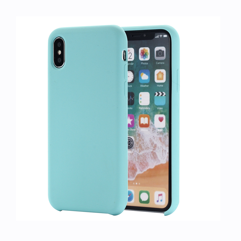 Original silicone cell phone case for iPhone X smooth touching rubber <strong>cover</strong>